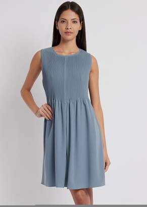 Emporio Armani Flared Dress With Pleats