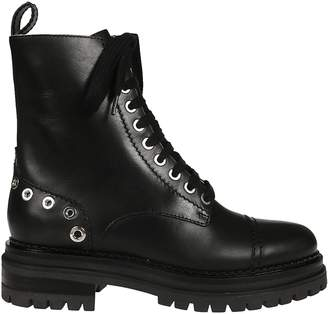 Sergio Rossi Studded Lace Up Boots