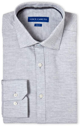 Vince Camuto Grey Dobby Slim Fit Dress Shirt