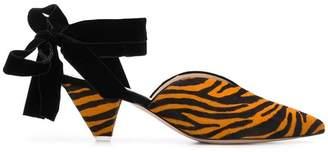 ATTICO zebra pattern mules