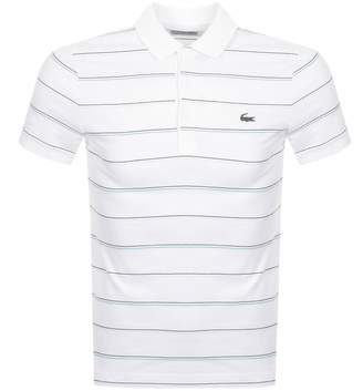 Lacoste Sport Stripe Polo T Shirt White