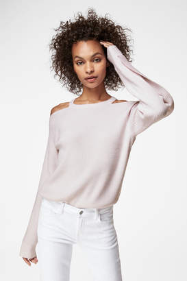 Mackenzie Long Sleeve Sweater In Faded Clear Pink Cashmere