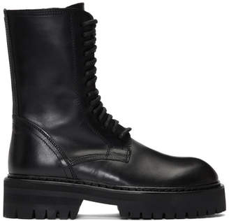 Ann Demeulemeester Black Tucson Lace-Up Boots