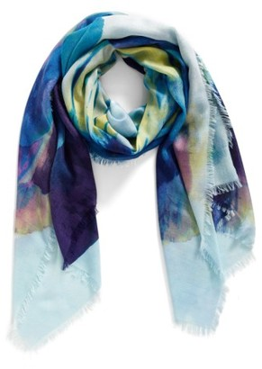 Women's Nordstrom Solar Floral Cashmere & Silk Scarf $99 thestylecure.com