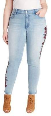 Jessica Simpson Plus Curvy High-Rise Embellished Skinny Jeans