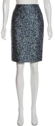 Bouchra Jarrar Textured Printed Skirt