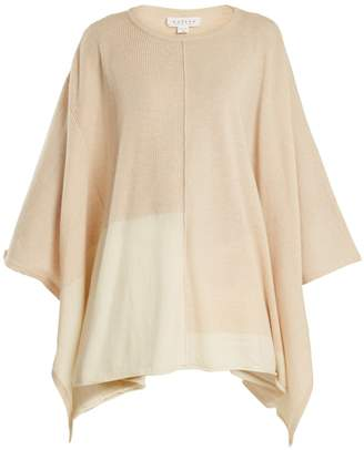 Velvet by Graham & Spencer Cristen bi-colour cashmere poncho