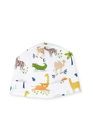 Kissy Kissy Jungle Jaunt Pima Baby Hat, Navy/White $12 thestylecure.com