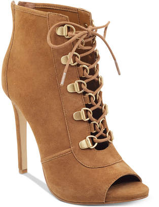 GUESS Women's Alysa Peep Toe Booties Women's Shoes