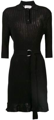 Sonia Rykiel ribbed knit polo dress