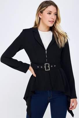 Do & Be Belted Black Blazer