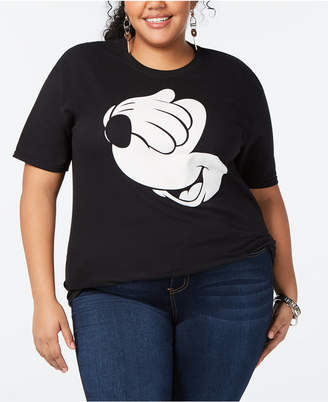 aa3d3d6a69ed4 Disney Trendy Plus Size Cotton Mickey Mouse Graphic-Print T-Shirt