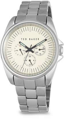 Ted Baker Men's Round Stainless Steel Bracelet Watch