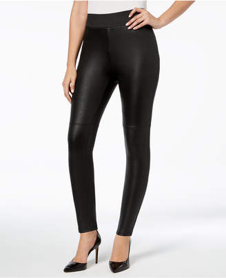 INC International Concepts I.N.C. Pebble-Texture Faux-Leather Smoothing Leggings, Created for Macy's