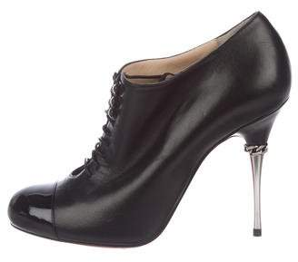Christian Louboutin Cap-Toe Ankle Boots w/ Tags