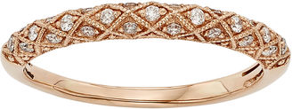 MODERN BRIDE 1/6 CT. T.W. Certified Diamond 14K Rose Gold Wedding Band $1,208 thestylecure.com