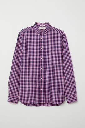 H&M Regular Fit Poplin Shirt - Pink
