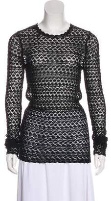 Isabel Marant Crocheted Long Sleeve Top