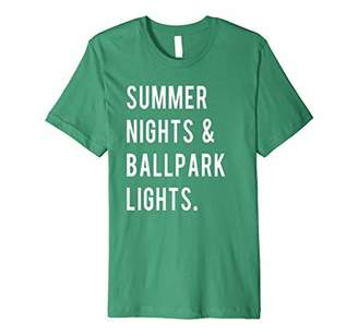 Summer Nights & Ballpark Lights Tee Baseball Mom T-Shirt