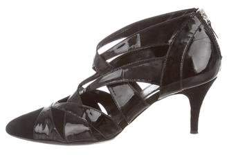 Alejandro Ingelmo Patent Leather Cut-Out Pumps