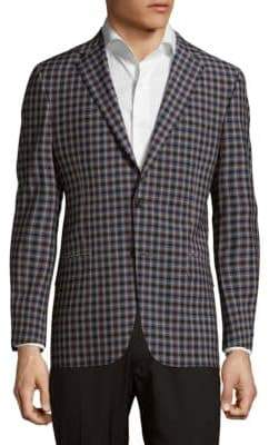 Hickey Freeman Long-Sleeve Plaid Jacket