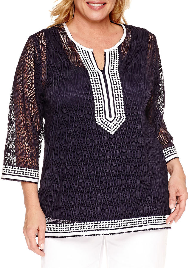 Alfred DunnerAlfred Dunner Seas The Day Tunic Top Plus