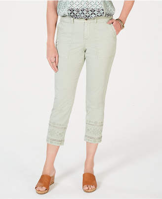 Style&Co. Style & Co Embroidered Capris Pants