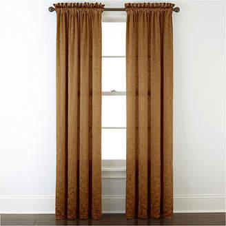 Royal Velvet Hilton Embroidery Rod-Pocket Curtain Panel