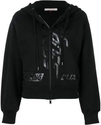 A.F.Vandevorst zipped hooded sweatshirt