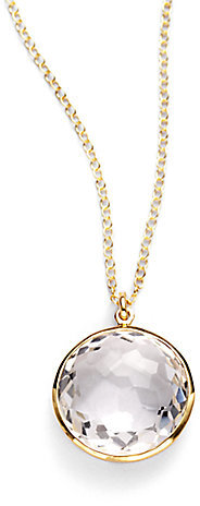 IPPOLITA Rock Candy Lollipop Clear Quartz & 18K Yellow Gold Pendant Necklace