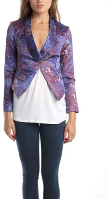 Suno Dog Ear Satin Blazer