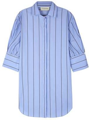 By Malene Birger Kirie Blue Striped Poplin Shirt