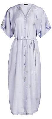 Eileen Fisher Women's Shibori Sky Abstract Silk Shirtdress