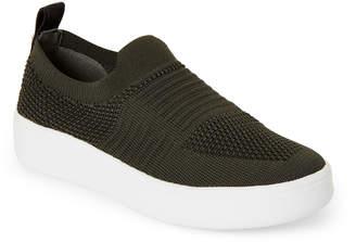 Steve Madden Kids Girls) Olive Beale Knit Slip-On Sneakers