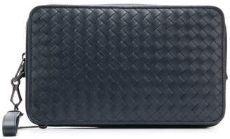 Bottega Veneta Intrecciato double zip clutch