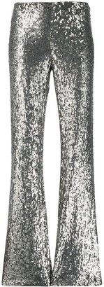 P.A.R.O.S.H. sequinned flared trousers