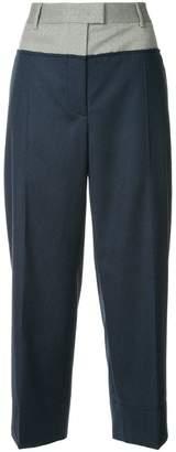 Cédric Charlier contrast waistband trousers
