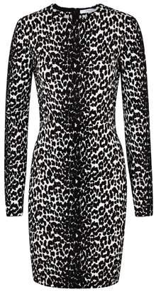 Givenchy Leopard-jacquard Stretch-knit Dress