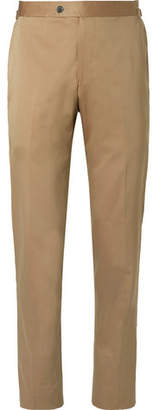 P. Johnson Beige Cotton, Wool And Silk-blend Solaro Suit Trousers