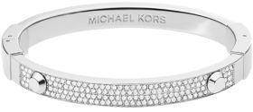 Michael Kors Silver-Tone Pave Bangle Bracelet