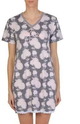 Claudel Floral-Print Short Nightgown