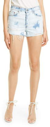 GRLFRND Cindy Bleached Denim Shorts