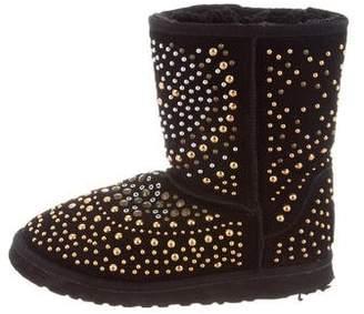 Jimmy Choo & UGG Studded Mandah Ankle Boots