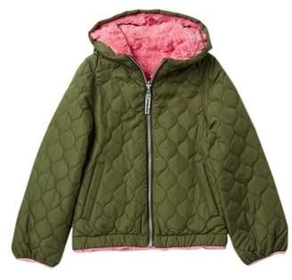 London Fog Quilted Reversible Faux Fur Jacket (Big Girls)