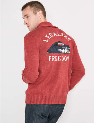 Lucky Brand LEGALIZE FREEDOM GRAPHIC SHAWL