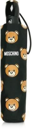 Moschino Teddy Heads Black Mini Umbrella