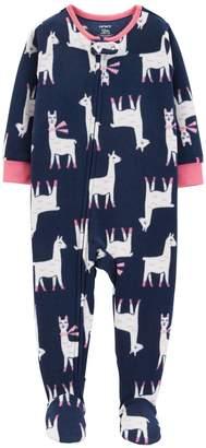 Carter's Baby Girl Printed Microfleece Footed Pajamas