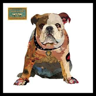 Soundslike HOME Sounds Like Home Collage Art British Bulldog