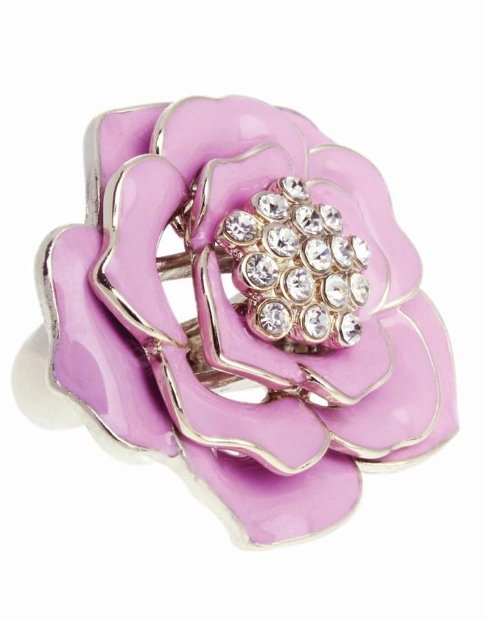 Lipsy Enamel Flower Ring