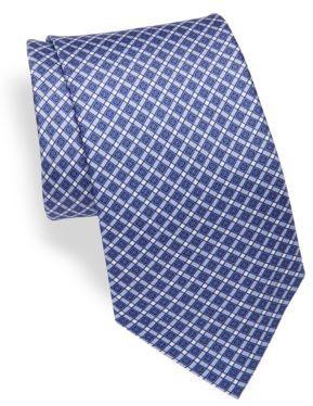 BrioniGeometric Print Silk Tie